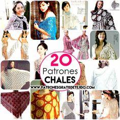 20 patrones de chales crochet