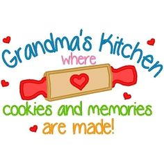 Grandmas Kitchen Cookies Applique - 3 Sizes! | Featured Products | Machine Embroidery Designs | SWAKembroidery.com
