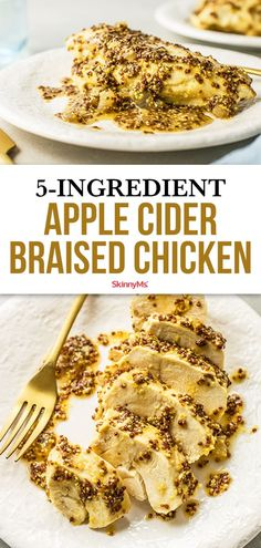 This Apple Cider Braised Chicken is a perfect example of a healthy dinner that's not only delicious, but ready in about 30 minutes! Clean Eating Recipes, Healthy Dinner Recipes, Appetizer Recipes, Cooking Recipes, Skinny Recipes, Simple Recipes, Fall Recipes, Best Chicken Dishes, Chicken Recipes