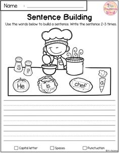 Free Reading and Writing Practice. This Product has 7 pages of reading and writing practice. 1st Grade Writing, Kindergarten Writing, Kids Writing, Teaching Writing, Kindergarten Worksheets, Kindergarten Classroom, Writing Activities, Classroom Activities, Teaching Kids