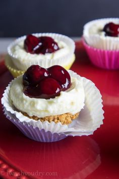 Quick Cherry No Bake Cheesecake
