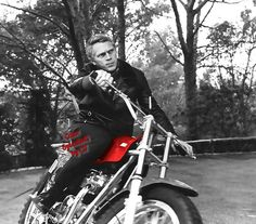"""( CELEBRITY 2016 ★ IN MEMORY OF ★ †  STEVE McQUEEN...BLACK & WHITE with HUES. ) ★ † Terence Steven McQueen - Monday, March 24, 1930 - 5' 9½"""" - Beech Grove, Indiana, USA. Died: Friday, November 07, 1980 (aged of 50) - Ciudad Juárez, Chihuahua, Mexico. Cause of death; (heart attack following surgery for metastasized cancer stemming from Mesothelioma)."""