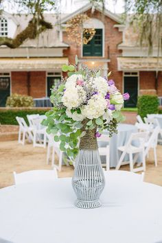 Garden Centerpieces With Loose Flowers | Red Fly Studio https://www.theknot.com/marketplace/red-fly-studio-thomasville-ga-391967 | Pebble Hill Plantation | Amanda Blackwood Events | Amanda Boyd | At Last Florals