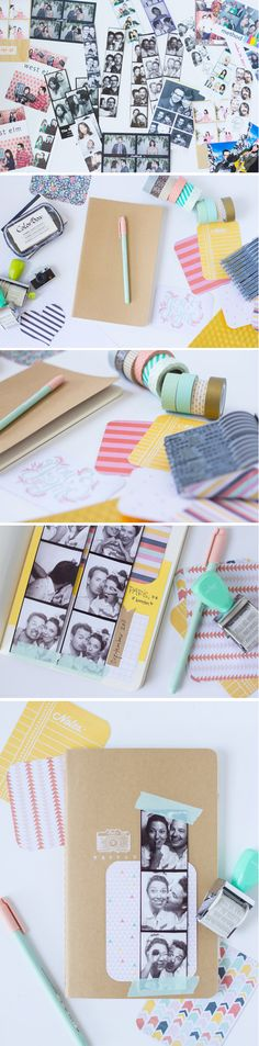 DIY Washi Tape Scrapbooking Projects | http://diyready.com/100-creative-ways-to-use-washi-tape/