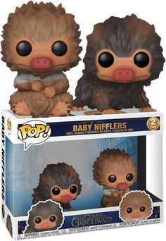 Fantastic Beasts The Crimes Of Grindelwald - Baby Nifflers Brown and Tan Funko Pop! Funko Pop Dolls, Funko Pop Figures, Pop Vinyl Figures, Gellert Grindelwald, Crimes Of Grindelwald, Funko Pop Display, Harry Potter New, Fantastic Beasts 2, Funk Pop