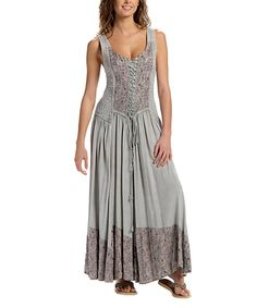 Take a look at this Coline Sage Green Lace Sleeveless Maxi Dress today!