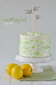 Layer cake de limón y semillas de amapola - Manzana&Canela