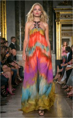 Today's blog topic trend: Chasing Rainbows - Happy St. Patty's Day! | Emilio Pucci runway