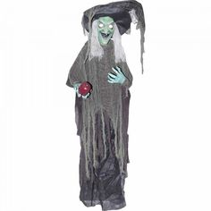 Halloween Outdoor Decorations Or Indoor Hanging Witch with Apple Halloween Prop…