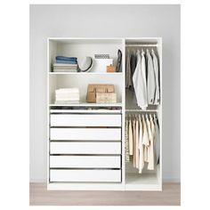 Discover the IKEA PAX wardrobe series. Design your own PAX wardrobe inside and out, from door styles, to shelves, to interior organizers and more. Plastic Shelves, Plastic Drawers, Drawer Shelves, Drawer Unit, Pax Corner Wardrobe, Ikea Pax Wardrobe, White Wardrobe, Wardrobe Storage, Bedroom Wardrobe