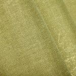 Candlelight 100% Linen Metallic Drapery Fabric in Jade Green. This semi-sheer fabric has a glint of gold, perfect for drapes, curtains, or a canopy.
