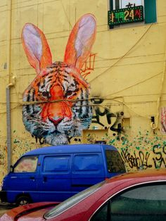 StreetArt from Hongdae, S. Korea { 2010-2011 change from year of the tiger to the year of the rabbit }