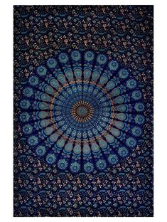 Blue Tapestry Wall Hanging Mandala Tapestries Indian Cotton Bedspread Picnic Bed sheet Blanket Wall Art Hippie Tapestry