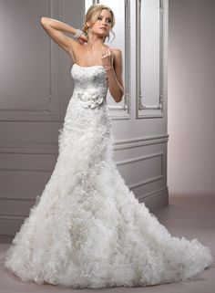 Lacey Bridal Gown...It's different but I kind of like it