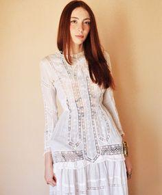 White Full Cage Dress