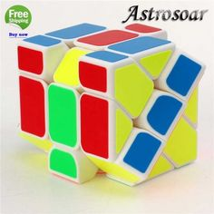 3*3*3 Irregular Magic Cube Frosted Sticker Change Speed Cube $6/PC
