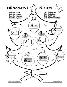 ornament-notes worksheet