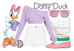 """""""Daisy Duck"""" by leslieakay ❤ liked on Polyvore featuring BillyTheTree, Tory Burch, River Island, Sam Edelman, Fendi, disney, disneybound and disneycharacter"""