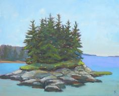 Christmas Cove, 20x24, Original Oil Painting by Kelley MacDonald, painting by artist Kelley MacDonald