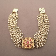 22ct gold, rubies, freshwater pearls, India
