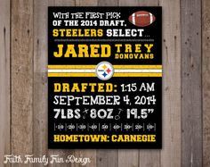 The perfect way to immortalize your little All-Star and get them cheering for the Pittsburgh Steelers from the earliest age! It makes for