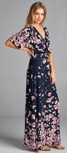 Awesome print maxi dress