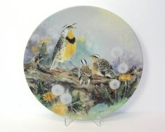 Bird Plate Porcelain Plate Bird Lena Liu by MicheleACaron on Etsy
