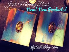 Re-done cabinet doors painted in our hand made Junk Monkey chalky paint! Check out our blog at www.styleshabby.com!