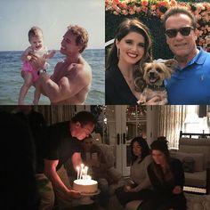 So happy I made it home from France in time to celebrate @katherineschwarzenegger's birthday yesterday. When you were born and I was just learning how to be a father, if I could have imagined everything you would accomplish in your first 28 years, my head would have exploded like in Total Recall. I love you so much.