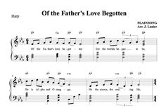 $1.50 Harp Music: Of the Father's Love Begotten