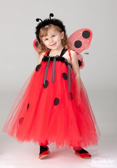 Lady bug Tutu Costume for your toddler! TOO CUTE! #SimplicityPatterns