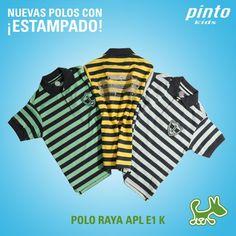 Nuevas polos con estampado en Pinto.