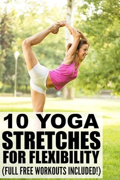 If you want to increase your flexibility to help with your strength-training exercises, prevent injury, and/or help with back pain, this collection of yoga stretches for flexibility is a great place to start. By incorporating yoga workouts into your exercise regimen, you can also increase your range of motion, reduce your stress levels, and improve your posture. Full workouts are included - try one today!