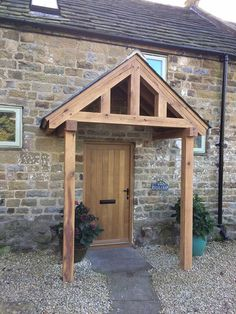 redwood porch front door canopy handmade in shropshire grosvenor not oak home exterior. Black Bedroom Furniture Sets. Home Design Ideas