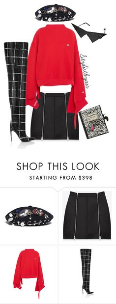 """Untitled #6747"" by stylistbyair ❤ liked on Polyvore featuring Marc by Marc Jacobs, Yves Saint Laurent, Vetements, Balenciaga and Olympia Le-Tan"