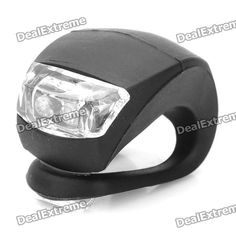 3-Mode 2-LED Blue Light Tie-On Bicycle Bike Lamp Light - Black (2 x CR2032) Price: $6.02