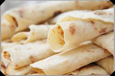 Lefse - Norwegian Potato Flatbread. Serve with butter, sugar and cinnamon.