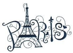Enchanted Paris 12 - 3 Sizes! | Words and Phrases | Machine Embroidery Designs | SWAKembroidery.com