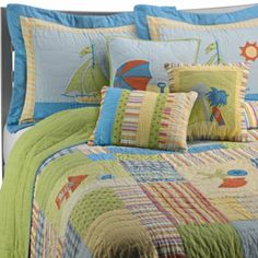 Probably more whimsy than I'm looking for. Beach Life Bedding Collection, 100% Cotton - BedBathandBeyond.com