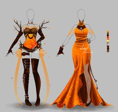 Outfit design - 161 - 162 - closed by LotusLumino on DeviantArt