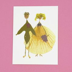 Petal People cards - now available online! We love these brilliant greetings cards from the Petal People Press. Pink Petals, Flower Petals, Pressed Flower Art, Engagement Cards, Real Flowers, Mother Nature, Confetti, Greeting Cards, Bloom