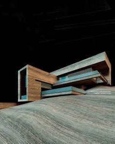 "13k Likes, 29 Comments - Amazing Architecture (@amazing.architecture) on Instagram: ""Casa SaMa fachada sur, south facade by PAULCREMOUXSTUDIO  #Maquette  www.amazingarchitecture.com ✔️…"""