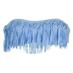 L*Space Juniors Dolly Knotted Fringe Bandeau Bikini Top #VonMaur #Swimwear #Fringe