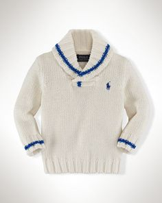 Cotton Shawl-Collar Sweater - Baby Boy Sweaters - RalphLauren.com