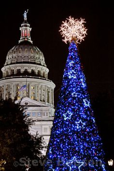 Christmas Lights, Texas State Capitol. #tree #snow #winter #texas