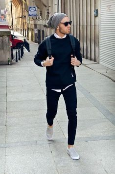 Moda masculina outfit casual jakkesæt, herremode y stil Mode Outfits, Casual Outfits, Stylish Men, Men Casual, Casual Winter, Mode Man, Fall College Outfits, School Outfits, Fall Outfits