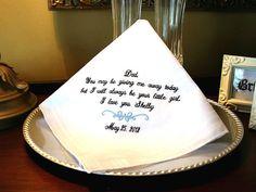 Father of The Bride Handkerchief  Bridal Hankie  by MisterandMrs, $22.95  #Fatherofthebride #wedding #handkerchief #father #gift