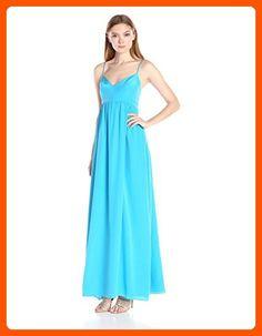Amanda Uprichard Women's Silk Maxi Gown Dress, Aqua, XS - All about women (*Amazon Partner-Link)