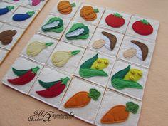 """Фетровые карточки """"Овощи"""""""