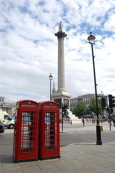 Trafalgar Square and Nelson's Column.
